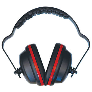 Wickes Master Ear Defenders - Red and Black