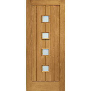 XL Siena External Oak Left Handed Fully Finished Door Set 2067 x 926mm