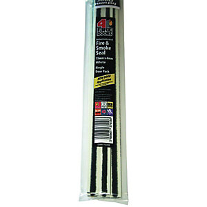 4FireDoors Intumescent Fire & Smoke Seal - White 15 x 4mm Single Door Pack of 5