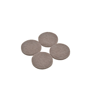 Wickes Heavy Duty Round Felt Pad Self Adhesive - 38mm Pack of 4