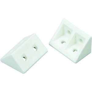 Wickes Rigid Joint Blocks - White Pack of 20