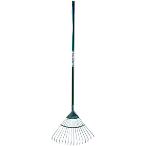 Wickes Carbon Steel Garden Lawn Rake - 1625mm