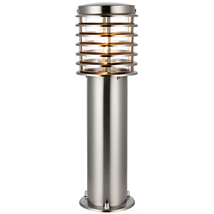 Wickes Eton Brushed Chrome Post Light - 60W