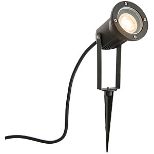 Wickes Pol Halo Garden Spike Light with die cast aluminium construction - 50W