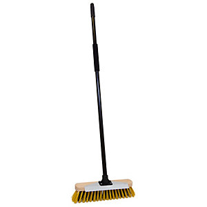 Bulldozer Utility Broom with Scraper