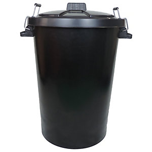 Wickes Heavy Duty Black Dustbin - 90L