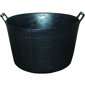 Wickes Strong Flexible Black Mixing Builders Tub - 73L