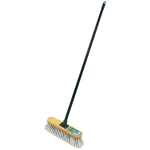 Wooden Soft Broom with Metal Handle - 11in