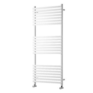Towelrads Invent Square White Heated Towel Rail Radiator - 1186 x 500 mm