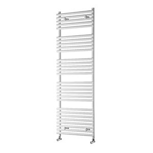 Towelrads Liquid Round Tube White Heated Towel Rail Radiator - 800 x 500mm