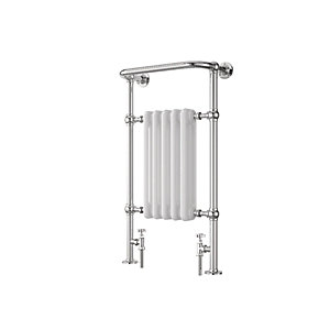 Wickes Etiquette Designer Towel Radiator - Chrome/White 960 x 510 mm