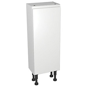 Wickes Hertford White Gloss Compact Floorstanding or Wall Storage Unit - 300 x 735mm