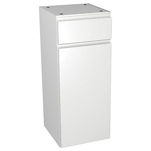 Wickes Hertford White Gloss Drawerline Floorstanding Storage Unit - 300 x 735mm