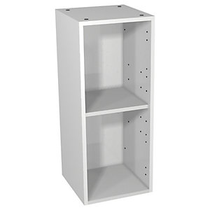Wickes Hertford White Gloss Floorstanding or Wall Open Storage Unit - 300 x 735mm