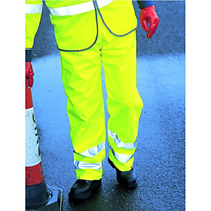 Wickes Class 1 High Visibility Trousers Yellow Extra Large