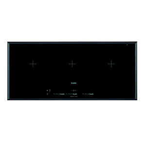 AEG 3 Zone Maxisense Flexi Induction Hob Black IKK93431FB