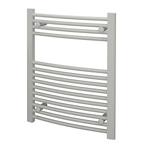Kudox Curved Towel Radiator - White 600 x 750 mm