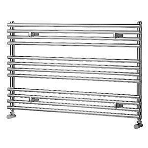 Wickes Liquid Round Horizontal Designer Towel Radiator - Chrome 600 x 1000 mm