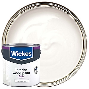 Wickes Quick Dry Satinwood Pure Brilliant White 2.5L
