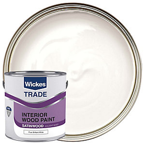 Wickes Trade Satinwood Pure Brilliant White 2.5L