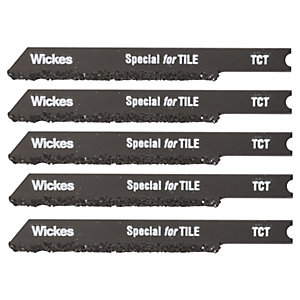 Wickes Universal Shank Tungsten Carbide Jigsaw Blade For Tile - Pack Of 5