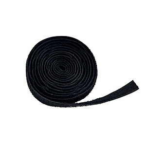 D-Line Hook & Loop Band Cable Tidy - Black 1.2m