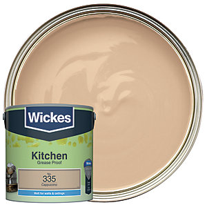 Wickes Cappuccino - No. 335 Kitchen Matt Emulsion Paint - 2.5L