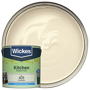 Wickes Champagne - No. 405 Kitchen Matt Emulsion Paint - 2.5L