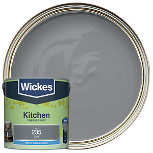Wickes Slate - No.235 Kitchen Matt Emulsion Paint - 2.5L