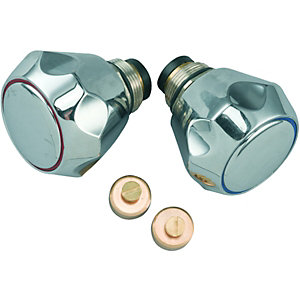 Wickes Sink & Basin Tap Head Conversion Kit - Chrome