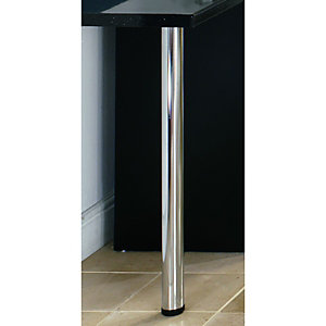 Wickes Breakfast Bar Worktop Support Leg - Chrome 870mm