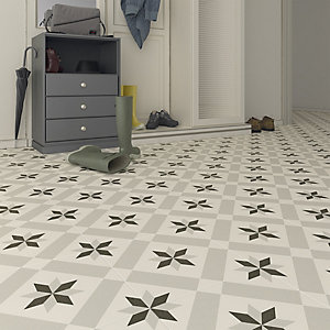 Wickes Canterbury Patterned Porcelain Wall & Floor Tile 300 x 300mm Pack 13