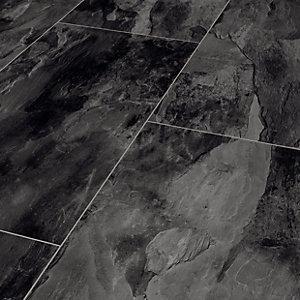 Dark Grey Slate Moisture Resistant Tile, Slate Colored Laminate Flooring