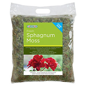 Fresh Sphagnum Moss For Hanging Baskets