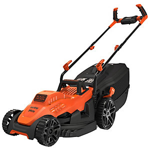 Black+Decker 1400W Corded 34CM Electric Lawn Mower with Bike Handle