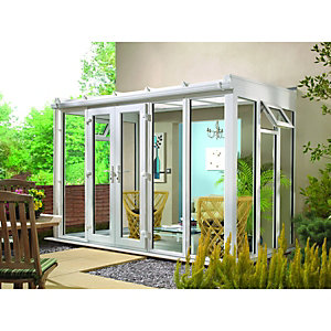 Wickes Lean To Roof Full Glass Conservatory - 13 x 10 ft