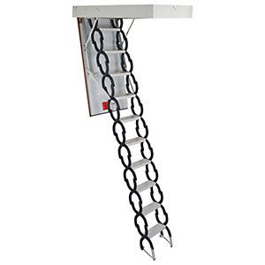 TB Davies MiniFold Metal Loft Ladder -  Max Height 3m