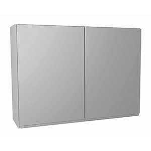 Wickes Madison Grey Gloss Handleless Wall Unit - 1000mm