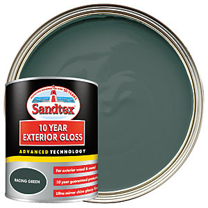 Sandtex 10 Year Exterior Gloss Paint - Racing Green 750ml