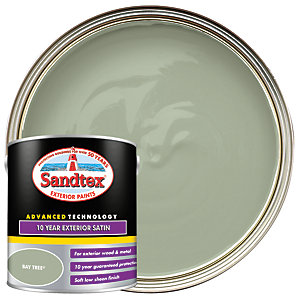 Sandtex 10 Year Exterior Satin Paint - Bay Tree 2.5L