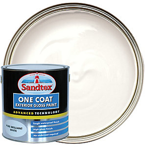 Sandtex One Coat Exterior Gloss Paint - Pure Brilliant White 2.5L