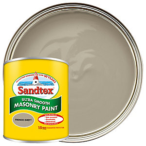 Sandtex Ultra Smooth Masonry Paint - French Grey 150ml