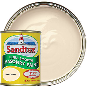 Sandtex Ultra Smooth Masonry Paint - Ivory Stone 150ml