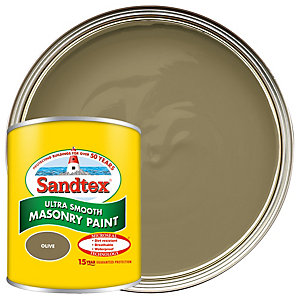 Sandtex Ultra Smooth Masonry Paint - Olive 150ml
