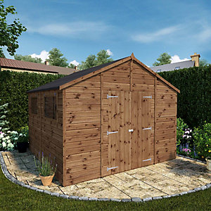 Mercia 10 x 10 ft Premium Shiplap Apex Garden Workshop