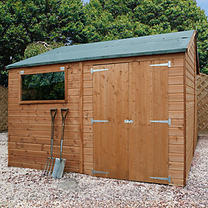 Mercia 10 x 10 ft Reverse Apex Roof Shiplap Workshop