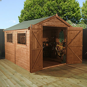 Mercia 10 x 8 ft Premium Shiplap Apex Garden Workshop
