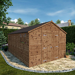 Mercia 16 x 10 ft Large Premium Shiplap Apex Garden Workshop