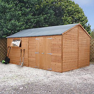 Mercia 16 x 10 ft Reverse Apex Roof Shiplap Workshop