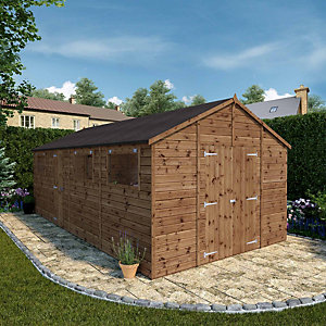Mercia 20 x 10 ft Premium Shiplap Apex Large Garden Workshop
